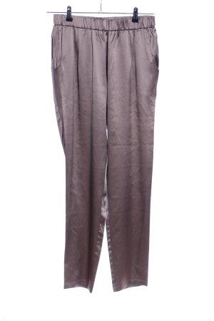 Fabiana Filippi pantalón de cintura baja marrón look casual