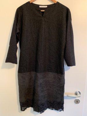 Fabiana Filippi Kleid aus Wolle, Filz und Leder