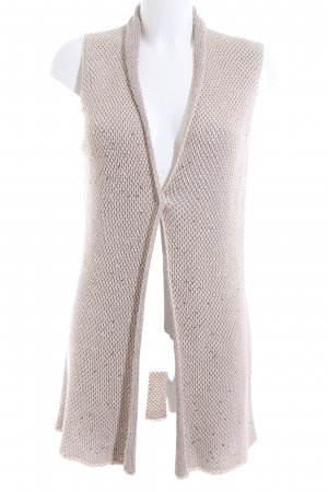 Fabiana Filippi Strick Cardigan creme grafisches Muster Business-Look