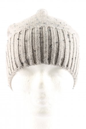 Fabiana Filippi Cappello a maglia grigio chiaro punto treccia stile casual