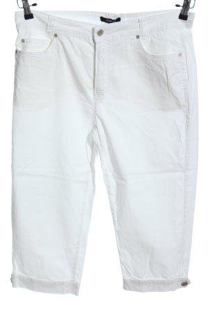 Fabiani Pantalone a 3/4 bianco stile casual