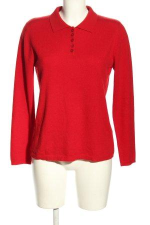 Fabiani Kaszmirowy sweter czerwony W stylu casual