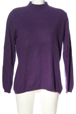 Fabiani Pullover in cashmere lilla stile casual
