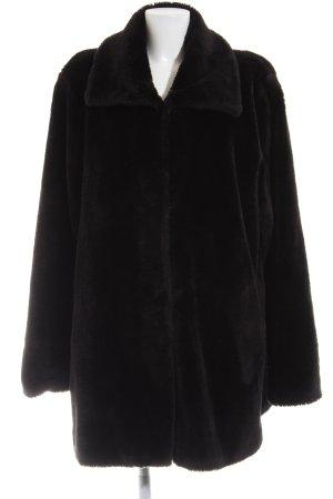Fabiani Fake Fur Coat black casual look