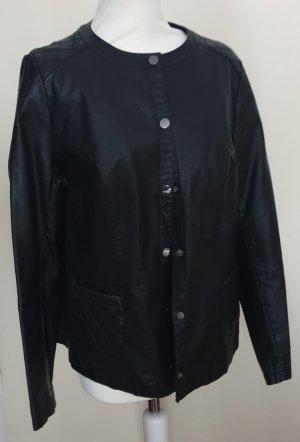 Fabiani Faux Leather Jacket black