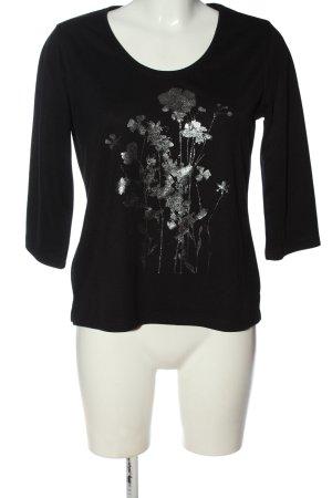Fabiani Longsleeve black flower pattern casual look