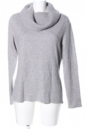 Fabiani Turtleneck Sweater light grey flecked casual look