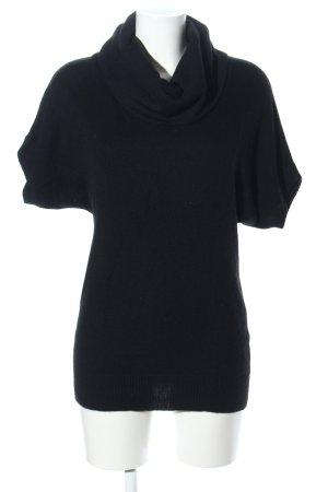 Fabiani Camisa de cuello de tortuga negro look casual