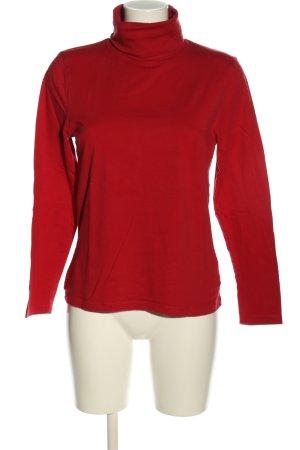 Fabiani Camisa de cuello de tortuga rojo
