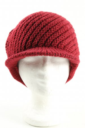 Fabiani Visor Cap red cable stitch casual look