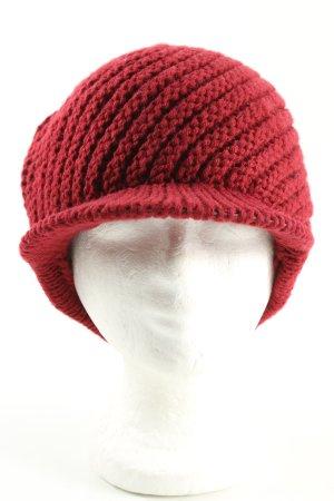 Fabiani Cappello con visiera rosso punto treccia stile casual