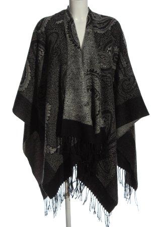 Fabiani Mantilla negro-gris claro Mezcla de patrones look casual