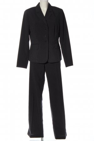 Fabiani Woven Twin Set black-light grey striped pattern business style