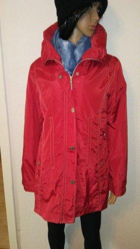 Fabiani Impermeabile rosso-rosso mattone Tessuto misto