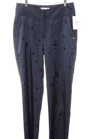 Fabienne Chapot Bundfaltenhose schwarz-dunkelblau Sternenmuster