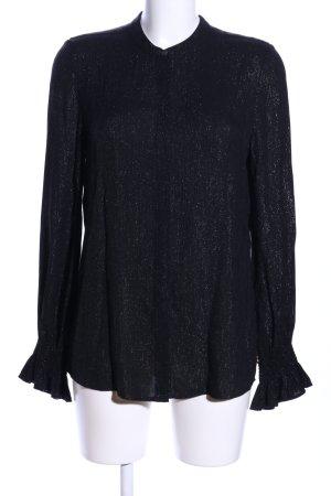 Fabienne Chapot Langarm-Bluse schwarz meliert Casual-Look