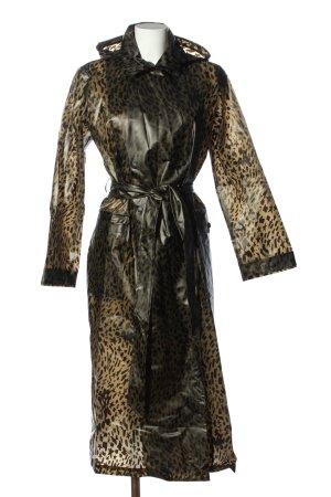 Fabienne Chapot Impermeabile nero-giallo pallido stampa integrale stile casual