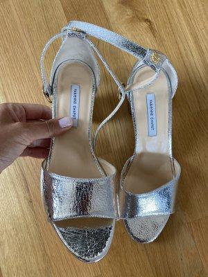 Fabienne Chapot Schuhe 39 Silber heels Leder