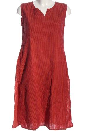 Fabindia Abito cut out rosso motivo a righe stile casual
