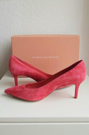 fabio rusconi Pointed Toe Pumps salmon-raspberry-red