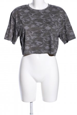 Fabletics Cropped Shirt hellgrau Camouflagemuster Casual-Look