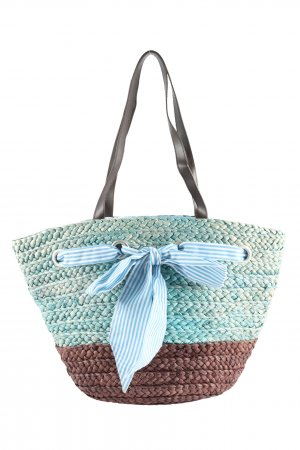 fabrizio Basket Bag turquoise-brown casual look