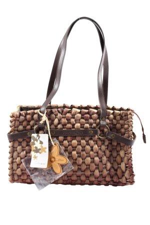 fabrizio Bolso tipo cesta marrón look casual