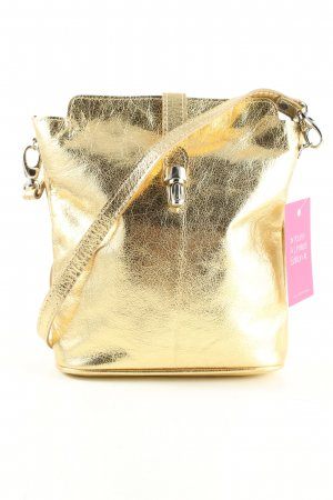 Facebag Handtasche goldfarben Casual-Look