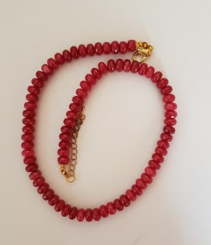 Pearl Necklace neon red