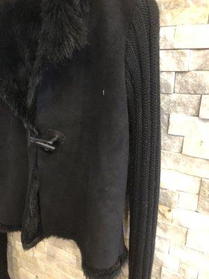 facke Fur mit Wildleder made in italy