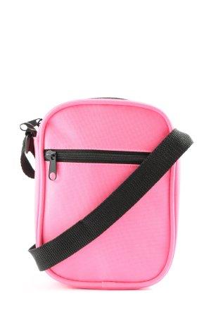 factorie Schultertasche pink-schwarz Casual-Look