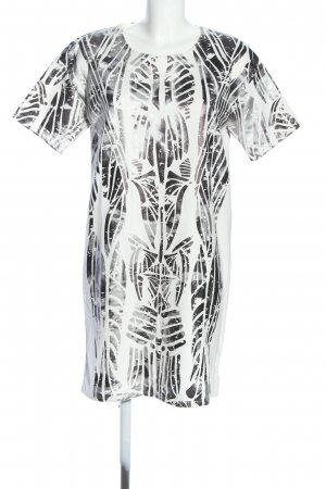 Fade to W Sweatkleid weiß-schwarz grafisches Muster klassischer Stil