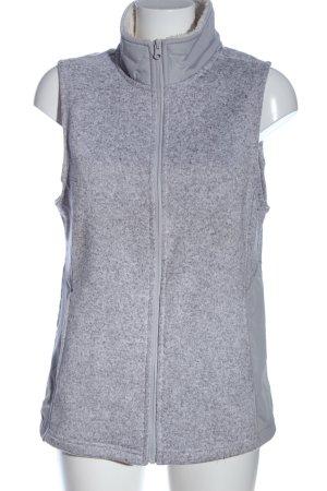 Faded Glory Fur vest light grey flecked casual look