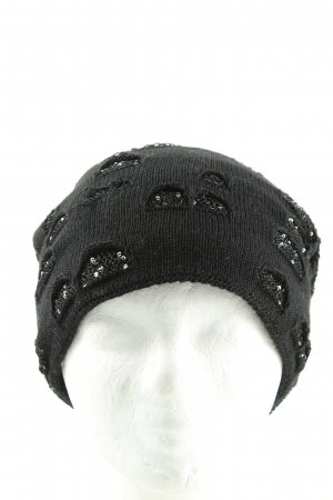 faera Gorro negro-color plata look casual