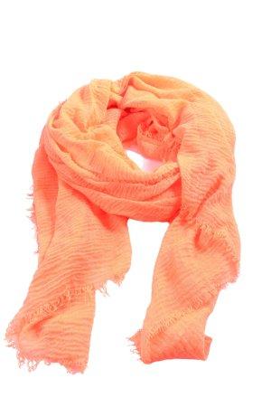 faera Sjaal met franjes licht Oranje casual uitstraling