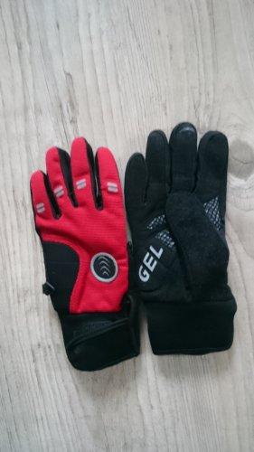 Guantes con dedos negro-rojo