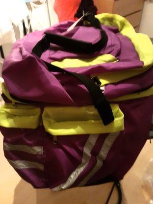 Sac en toile jaune clair-violet