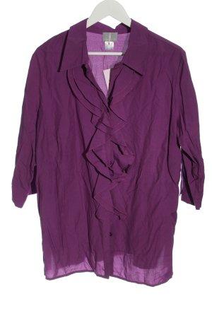 Fair Lady Blouse à volants violet style décontracté