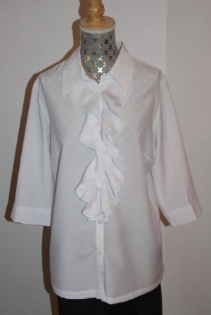 Fair Lady Ruche blouse wit Gemengd weefsel