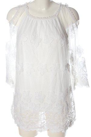 Fair Lady Blouse à enfiler blanc imprimé allover élégant