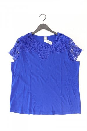 FAIR LADY Shirt mit Spitze Größe 50 Kurzarm blau