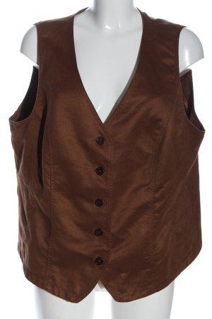 Fair Lady Chaleco de vestir marrón look casual