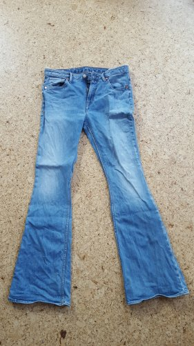 Kings of Indigo Denim Flares blue cotton