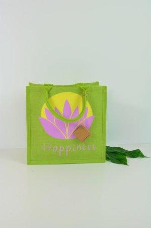 Fair Trade Jute Beutel / Tasche / Einkaufstasche / Geschenktasche mit Lotusblume