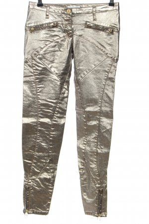 Faith connexion Slim Jeans silberfarben Glanz-Optik