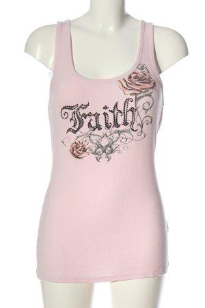 Faith Tank Top themed print casual look