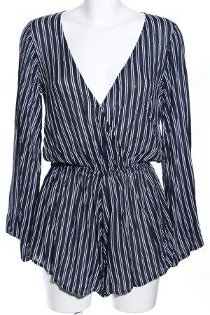 Faithfull Jumpsuit schwarz-weiß Streifenmuster Casual-Look