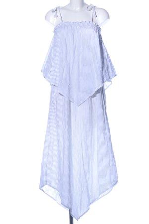 Faithfull Midikleid weiß-blau Streifenmuster Casual-Look