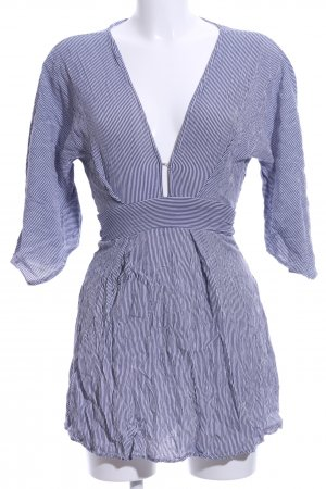 Faithfull Minikleid weiß-dunkelblau Streifenmuster Casual-Look
