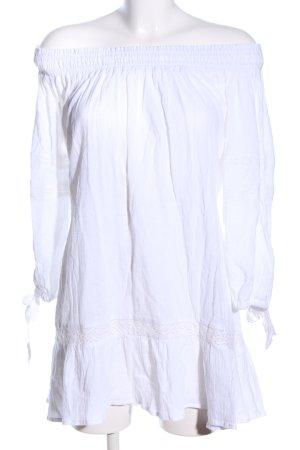 Faithfull schulterfreies Kleid weiß Casual-Look